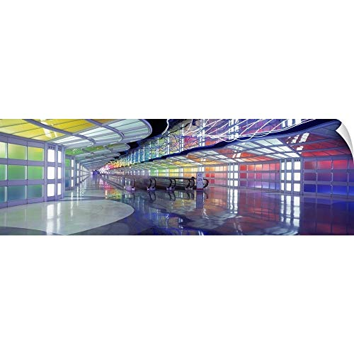 CANVAS ON DEMAND United Airlines Terminal Passageway O'Hare Airport Chicago IL Wall Peel Art Print, 60