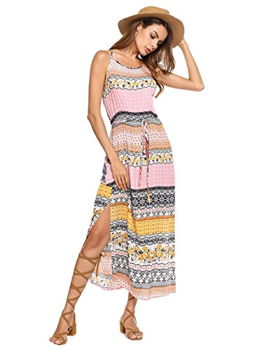 Drawstring Halter Dress - 4
