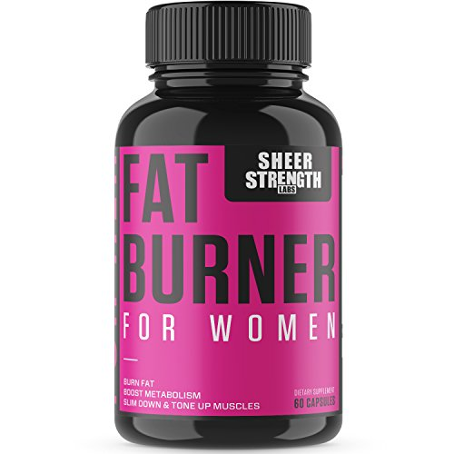 Sheer Fat Burner for Women – Fat Burning Thermogenic Supplement, Metabolism Booster, and Appetite Suppressant Designed for Women,  New from Sheer Strength Labs, 60 Weight Loss Pills