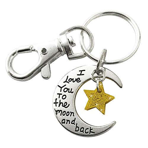 Love You to the Moon and Back Metal Keychain
