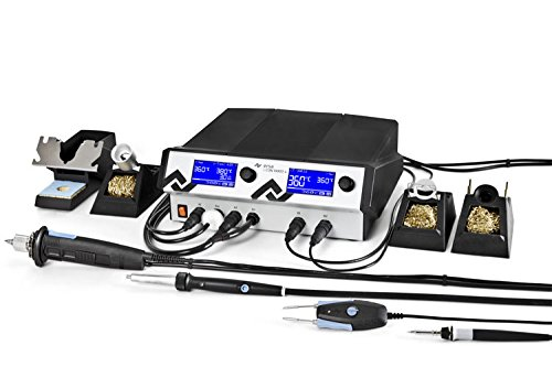 Ersa i-CON VARIO 4 Mehrkanal-Löt mit Entlötstation 500 W, 230 V, i-Tool AIR S, Chip und X-Tool antistatisch, 0ICV4000AICX