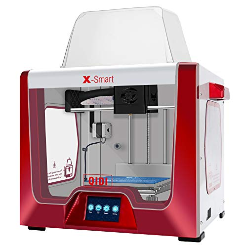 QIDI TECHNOLOGY 3D Printer, X-smart (Red color version): Fully Metal Structure, 3.5 Inch Touchscreen