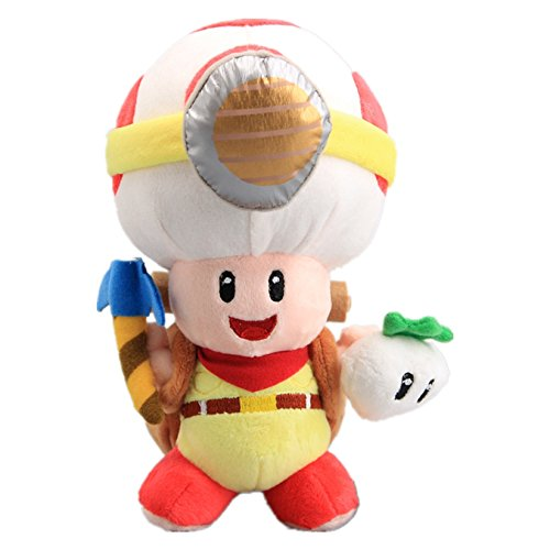 uiuoutoy Super Mario Bros. Standing Pose Captain Toad Plush Toy Doll 8'' -
