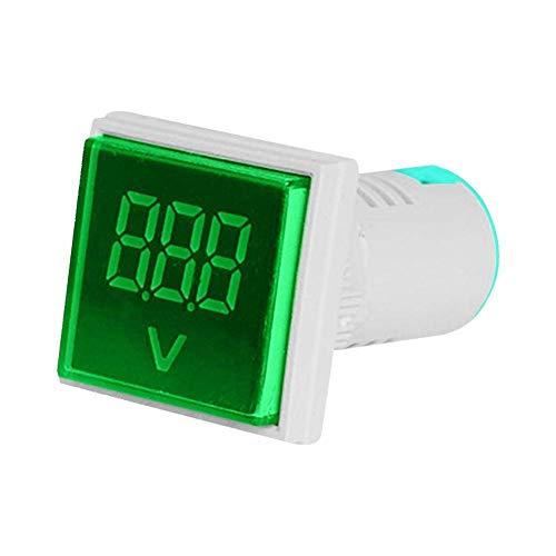 Microtail Direct AC 60-500V Digital Voltmeter LED Plastic Indicator Lamp Square Signal Light (Green) Price & Reviews