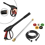 TFCFL 3000PSI High Pressure Car Power Washer Spray Gun Wand Nozzle Tip Hose Kit