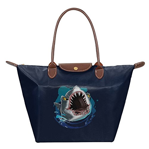 Price comparison product image Big Mouth Shark Womens Fashion Hobo Tote Bag Travel Shoulder Handbag Beach Bags