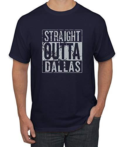 Wild Bobby Straight Outta Dallas DAL Fan | Fantasy Football | Mens Sports Graphic T-Shirt, Navy, 2XL