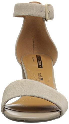 CLARKS Womens Deva Mae Dress Sandal Sand Suede kjEnJWWLO