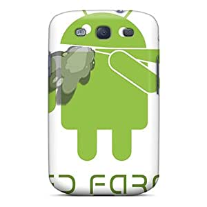 Galaxy S3 Case Cover - Slim Fit Tpu Protector Shock Absorbent Case (android Smoking)