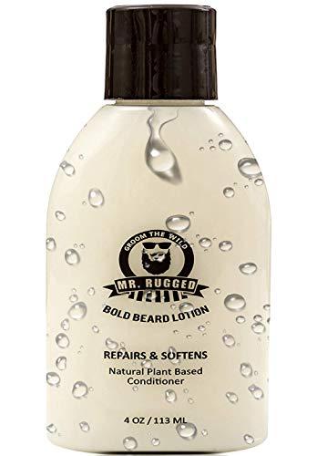 (Mr. Rugged Beard Lotion Conditioner - Repair Soften & Protect Facial Hair - Luxurious Beard Conditioner - Healthy Beard Growth - Paraben & Sodium Chloride Free - Better Then Beard Oils or Beard Balms)