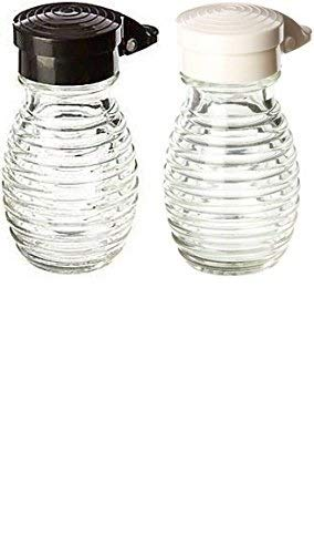 Moisture Proof Beehive Salt And Pepper Shakers | Black And White Hinged Flip Top | No Spill | No Clog | 2 OZ Set Of - Salt Pourer