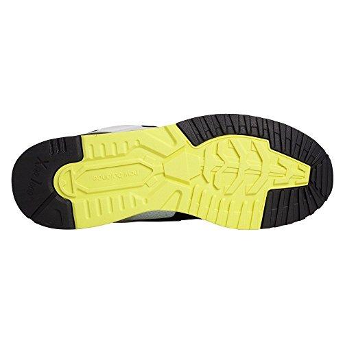 Nuovo Equilibrio Mens 530 Collezione Estate Onde Stile Di Vita Sneaker Bianco In Pelle Nera / / Giallo