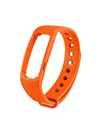 COOSA Multicolor Healthy Sport Bracelet Waterproof Replacement Wristband(ID107 Replacement Wristband/Orange)