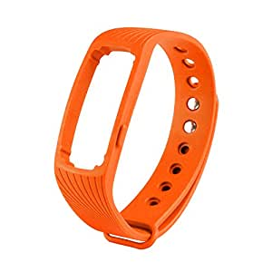 COOSA New Bluetooth Smart Heart Rate Bracelet Multicolor Healthy Sport Bracelet Waterproof Replacement Wristband for ID107(Replacement/Orange)