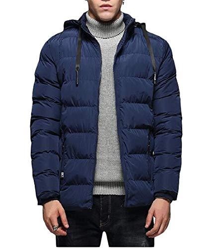 amp; Parka Cappuccio Trapuntato Blu Outerwear H E Cappotti Con Cotone Imbottito Sottili Mens Di Giacca xYf1Twdq