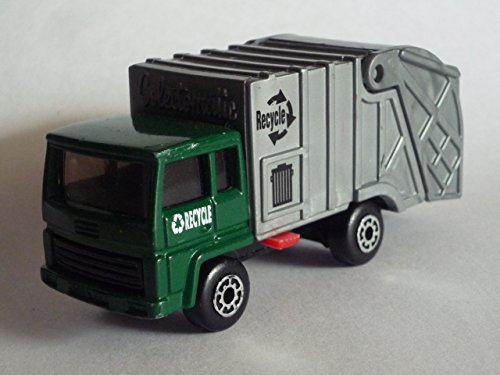 "MATCHBOX 1980 ""SUPERFAST"" MB36-D32 Refuse Truck (green/silver)"
