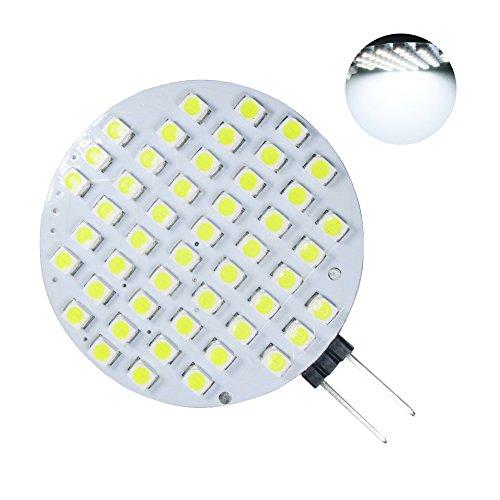 GRV G4 48-3528 SMD LED Light Side-Pin LED G4 Bulb Bi-pin Super Bright lamp AC/DC 12V-24V Cool White Pack of 10