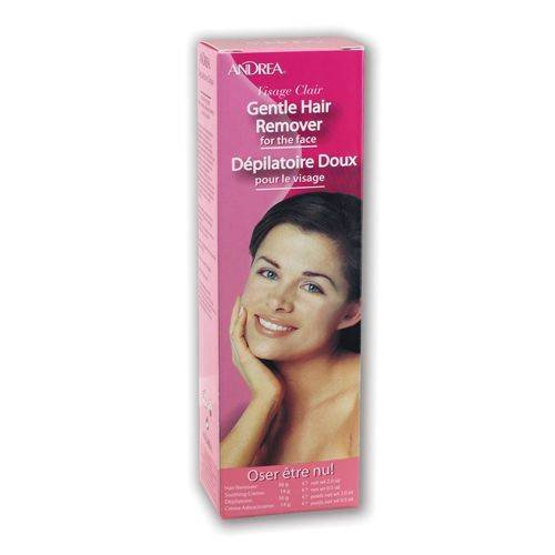 Andrea Visage Clair Gentle Hair Remover for The Face 56g/2oz Hair Remover + 14g/0.5oz Soothing Cream