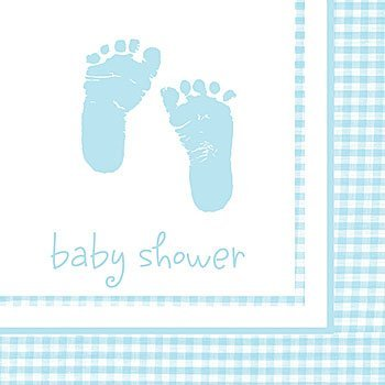 Plaid Boy Mask (Plaid Baby Boy 2 Ply Textured Luncheon Napkins Party Shower)
