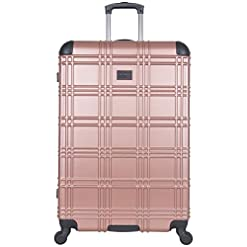"Travel Junkie 41PRbXS0WPL._SS247_ Ben Sherman Luggage Nottingham 28"" Embossed PAP 4-Wheel Luggage"