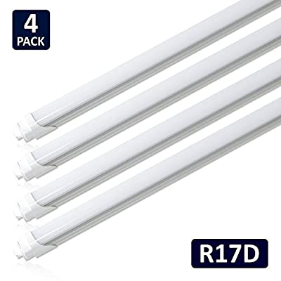 (Pack of 5) Hypergiant T8 T10 T12 LED Light Tube 8ft R17d 44W (100W equivalent) 6500K 4500 Lumens R17D Base Frosted Cover Dual-Ended Power Fluorescent Light Bulbs Replacement …