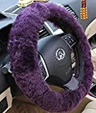 "Yontree Winter Warm Faux Wool Handbrake Cover Gear Shift Cover Steering Wheel Cover 14.96""x 14.96"" 1 Set 3 Pcs"