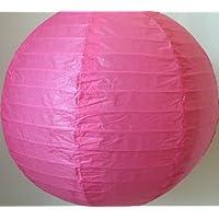 Matissa - Linterna de Papel (40 cm, 3 Unidades), Color Rosa