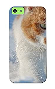 Crooningrose Case Cover Protector Specially Made For Iphone 5c Snow Cats Animals Green Eyes Animal Cat BY RANDLE FRICK by heywan