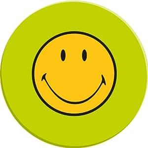Zak Designs 6187-0842 - Plato redondo (melamina, 20 cm), diseño de Smiley, color verde