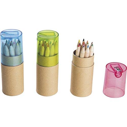【単品/色指定不可品】色えんぴつ12pcsシャープナー付 【おもちゃ かわいい ぬりえ ぬり絵 おえかき お絵描き 遊び あそび 写生 ヌリエ イロエンピツ 鉛筆削り付き しゃーぷなー 120】