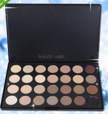 Pro 28 Neutral Nude Colors Warm Matt Tone Eyeshadow Makeup Beauty Palette Kit