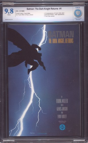 BATMAN THE DARK KNIGHT RETURNS # 1 FIRST PRINT CBCS 9.8 NEAR MINT/MINT WHITE PAGES ITEM # 16508