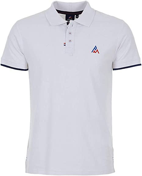 Peak Mountain -Polo Mangas Cortas Hombre - COROC-Blanco-M: Amazon ...