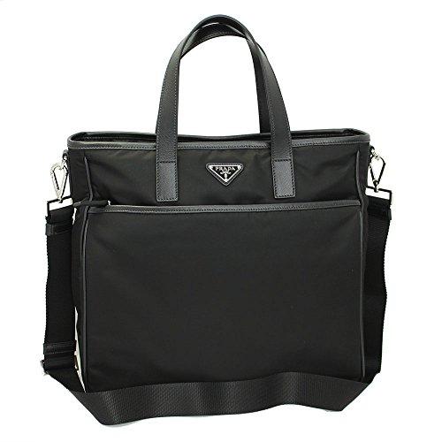 Prada Men's Black Nylon/ Tote Bag 2vg032 Nero W/Shoulder Strap
