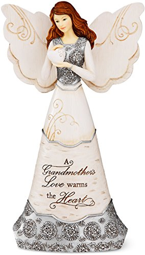 Elements GrandMother Angel Figurine by Pavilion, 8-Inch, Holding Heart, Inscription a GrandMother's Love Warms The Heart Willow Tree Angel Heart