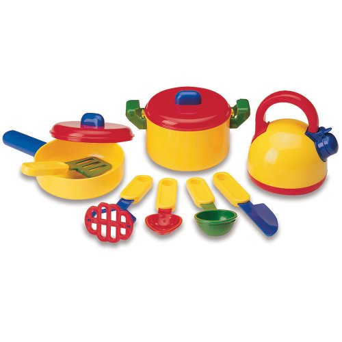 Learning Resources Pretend & Play Cooking Set, Play Food, Imaginative Play, 10 Pieces, Ages ()