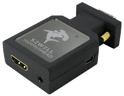 - Sewell Hammerhead VGA to HDMI Active Converter 1080p Compact Size