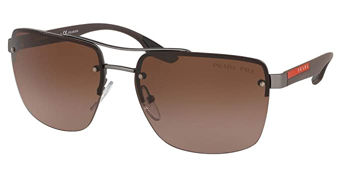 Prada Linea Rossa 0PS 60US Gafas de sol, Gunmetal Rubber, 62 ...