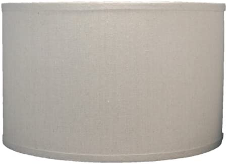 Urbanest Pure Linen Chandelier Lamp Shades, 6-inch, Hardback Clip On, Oatmeal Set of 9