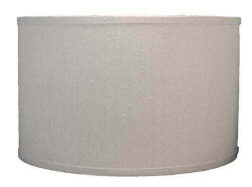Urbanest Linen Drum Lamp Shade, 16-inch By 16-inch By 10-inch, Natural, Spider