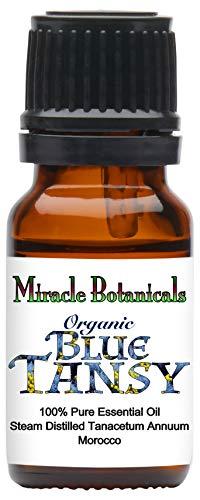 Miracle Botanicals Organic Blue Tansy Essential Oil - 100% Pure Tanacetum Annuum - Therapeutic Grade - 10ml ()