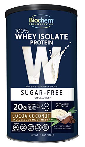 Biochem Whey Protein Powder Mix Cocoa Coconut 11.5 oz (Supports Immune Health and Recovery) 100% Organic Protein Whole Food Supplement Powdered Drink Mix, 20G Protein