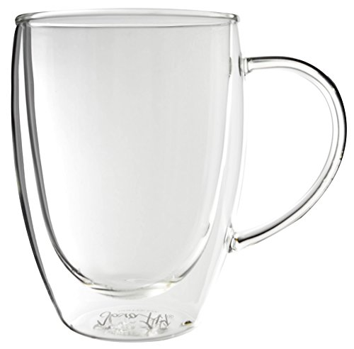 Bistro Mug with Handle from JavaFly, Double Walled Thermo Gl
