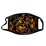 Face Balaclavas Unisex Mouth Cover Dustproof Windproof Anti-Spitting Protective Covering Washable Bandana Halloween Print Scarf Mdsk for Adult (C)