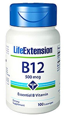 Life Extension B12, 500 Mcg, 100 dissolving - B-12 Lozenges
