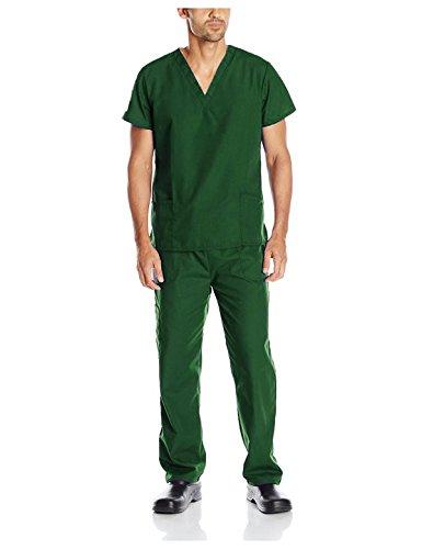 (G Med Unisex Scrub Set V-neck Top and Pant 2 PC Set(MENSET-MED,HGN-1X))