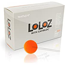 Loloz - Cavity Fighting Orange Lollipops - 3 to 6 months of protection (20 pieces)