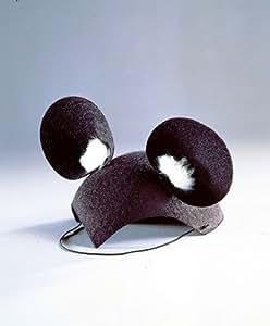 Fm - Gorro con orejas para disfraz infantil de ratón