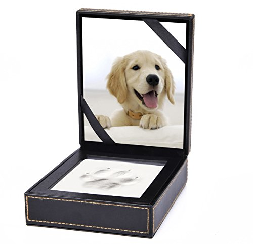 Petmemorials4u Paw Prints Keepsake Photo Frame by Better World Pets – Holds 4 x 6 inch Picture – Memorial Clay Imprint Kit – For Dogs and Cats – Perfect for Pet Lovers