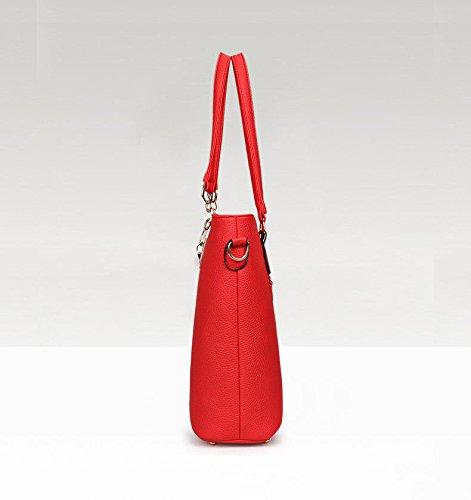 Grande Sjmmbb Sacco Donna Pezzi Con Gules Un Rosso Sei qwat16t